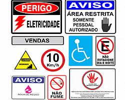 Comércio de placas de sinalização